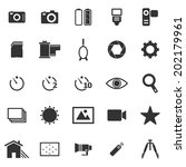 camera icons on white... | Shutterstock .eps vector #202179961