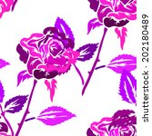 elegant seamless pattern with... | Shutterstock . vector #202180489