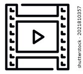 play video clip icon. outline...