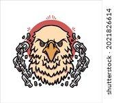 eagle tattoo illustration...   Shutterstock .eps vector #2021826614