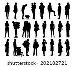 big set of black silhouettes of ... | Shutterstock . vector #202182721