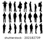 big set of black silhouettes of ... | Shutterstock . vector #202182739
