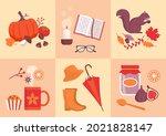fall season icons set  fruits ... | Shutterstock .eps vector #2021828147