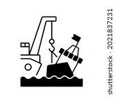 marine salvage black linear...   Shutterstock .eps vector #2021837231