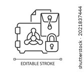 trade secrets linear icon.... | Shutterstock .eps vector #2021837444