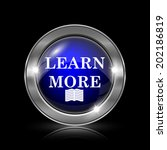 learn more icon. metallic...   Shutterstock . vector #202186819