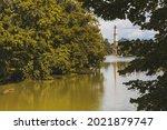 lednice minaret  romantic...   Shutterstock . vector #2021879747