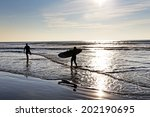 a longboarders going along the... | Shutterstock . vector #202190695
