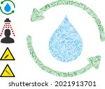 hatch collage water treatment... | Shutterstock .eps vector #2021913701