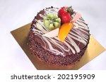chocolate cake | Shutterstock . vector #202195909