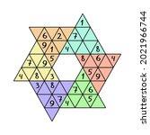 star sudoku colorful vector... | Shutterstock .eps vector #2021966744