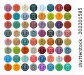 it is a flat design in modern... | Shutterstock .eps vector #202201585