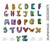 cartoon alphabet | Shutterstock . vector #202202875