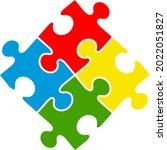puzzle piece infographics...   Shutterstock .eps vector #2022051827
