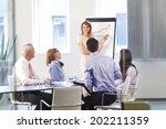 executive businesswoman... | Shutterstock . vector #202211359