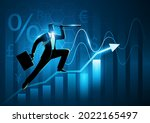 silhouette of a businessman...   Shutterstock .eps vector #2022165497