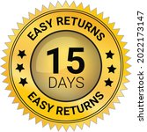 easy returns vector logo. trust ... | Shutterstock .eps vector #2022173147