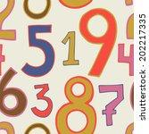vector seamless pattern of... | Shutterstock .eps vector #202217335