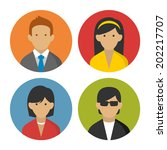colorful peoples userpics icons ... | Shutterstock .eps vector #202217707