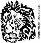 lion head vector. | Shutterstock .eps vector #202218931