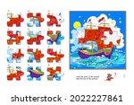logic game for children and... | Shutterstock .eps vector #2022227861