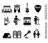 music festival  live concert... | Shutterstock .eps vector #202223131
