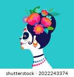 dia de los muertos  day of the... | Shutterstock .eps vector #2022243374