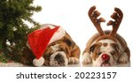 Bulldog Santa And Bulldog...