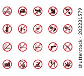 prohibited signs vector | Shutterstock .eps vector #202231579