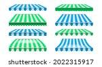 shops striped canopy....   Shutterstock .eps vector #2022315917