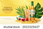 3d tequila sunrise... | Shutterstock .eps vector #2022325637