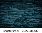 Blue Green Stone Wall...