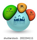 sphere with business icons info ...