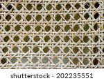 synthetic rattan texture... | Shutterstock . vector #202235551
