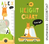 kids height chart with cute...   Shutterstock .eps vector #2022387167