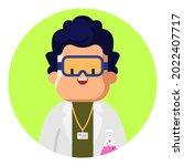 scientist guy avatar. people... | Shutterstock .eps vector #2022407717