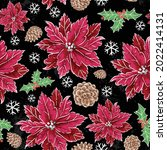 seamless christmas pattern with ... | Shutterstock .eps vector #2022414131