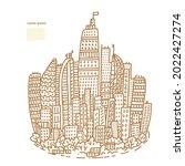 isolated big city metropolis...   Shutterstock .eps vector #2022427274