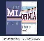miami and california cut and...   Shutterstock .eps vector #2022478607