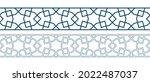 set of borders of islamic... | Shutterstock .eps vector #2022487037