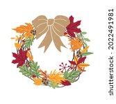 beautiful traditional autumn...   Shutterstock . vector #2022491981