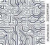 microchip board seamless... | Shutterstock .eps vector #2022499184