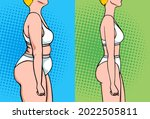 woman weight loss before and... | Shutterstock .eps vector #2022505811