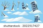 Set Of Ice Age. Cartoon Game...
