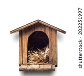 Bird House Isolated With...