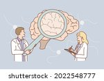 research of human brain concept....   Shutterstock .eps vector #2022548777