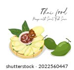 raw mangoes sour with sweet... | Shutterstock .eps vector #2022560447