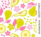 hand drawn vector pattern of...   Shutterstock .eps vector #2022573491