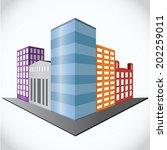 city on white background ... | Shutterstock .eps vector #202259011