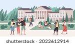 university park. young people... | Shutterstock .eps vector #2022612914